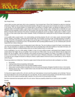 Walter Poole Prayer Letter:  A Wonderful Opportunity!