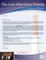 Luis Martinez Prayer Letter:  Divine Appointment