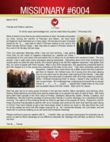 Missionary #6004 Prayer Letter:  We Yield as He Leads and Guides
