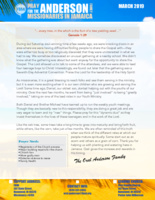 Oral Anderson Prayer Letter:  Fruits That Bring Forth Fruits