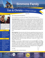 Tim Simmons Prayer Letter: Divine Appointments!