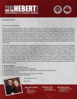 Brian Hebert Prayer Letter:  How Shall They Hear?