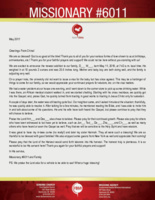 Missionary #6011 Prayer Letter:  The Need for Clean Water Leads a Soul to the Living Water