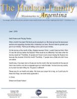 Simeon Hudson Prayer Letter:  What a Month!