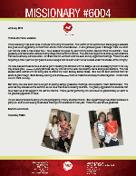 Missionary #6004 Prayer Letter: In the Service of the King