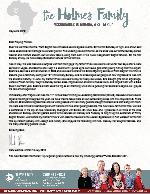 Mark Holmes Prayer Letter: Landmark Events and Special Visits