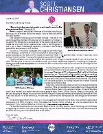 Scott Christiansen Prayer Letter: Blessed Benefits