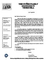 Andres Nunez Prayer Letter:  Pray for Venezuela!