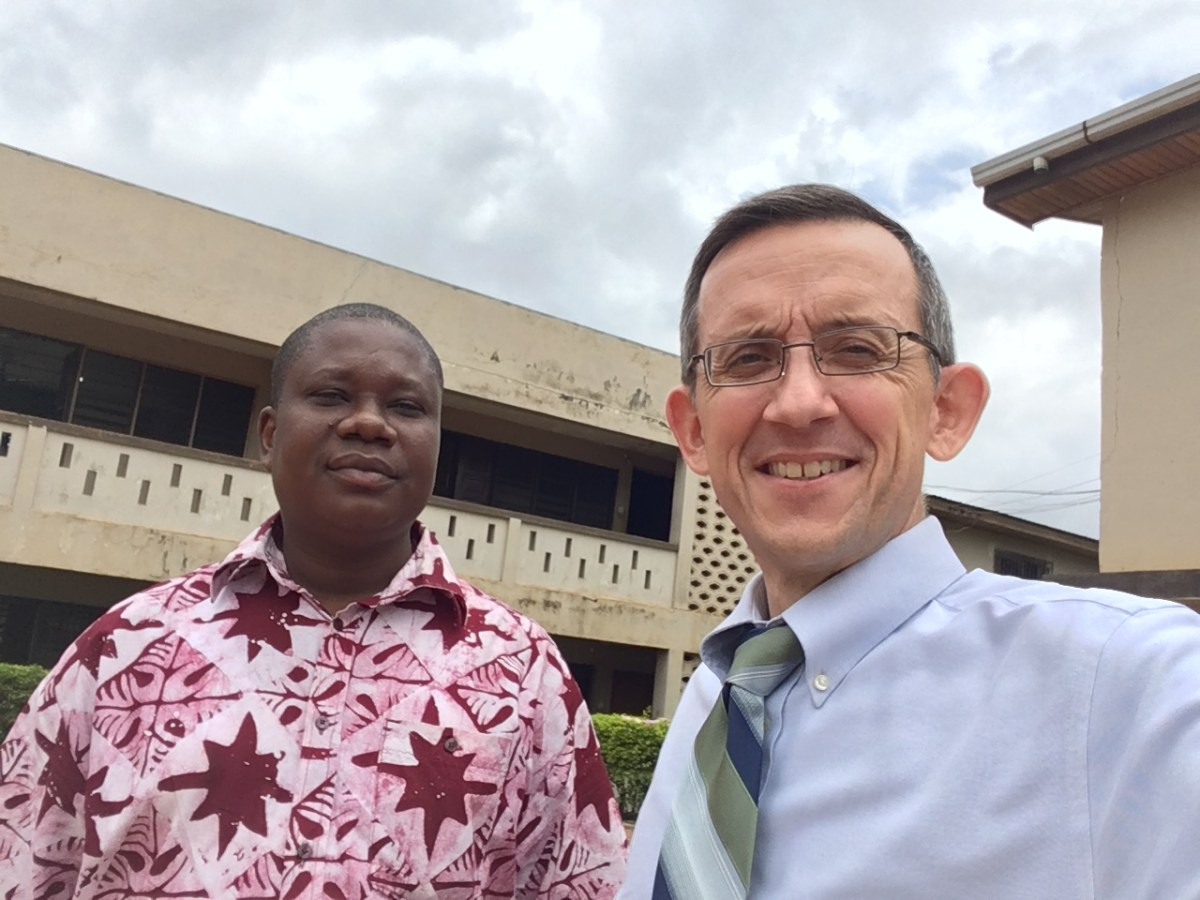 Missionary Mike Sarver with Pastor Yaw Frimpong