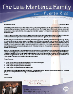 Luis Martinez Prayer Letter:  Serving the People of Puerto Rico