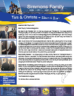 Tim Simmons Prayer Letter:  So Much to Be Thankful For!