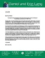 Daniel Lang Prayer Letter: Thankful for the Faithful!