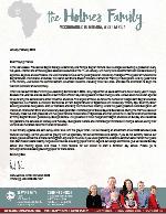 Mark Holmes Prayer Letter: Graduation and Conferences