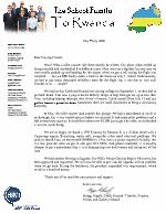 Gregg Schoof Prayer Letter:  Back in the USA!