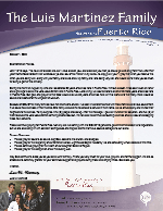 Luis Martinez Prayer Letter: 22 Years on the Field of Puerto Rico!