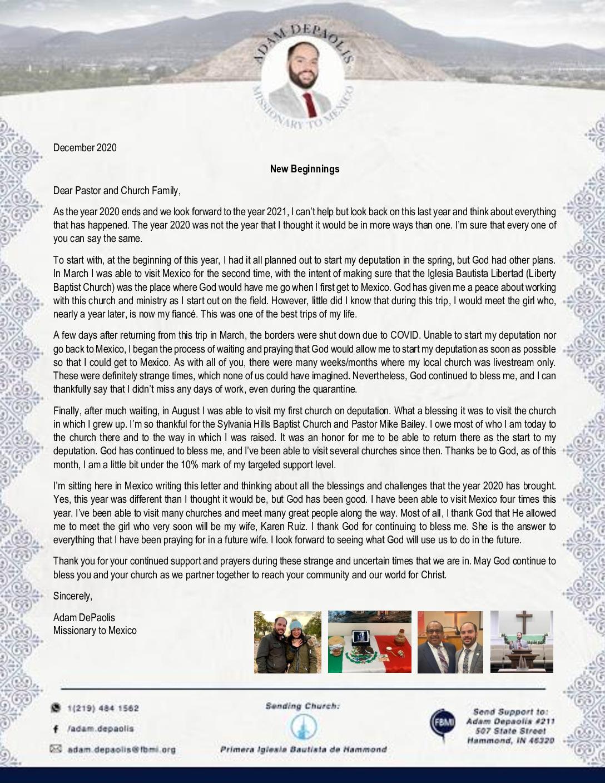 thumbnail of Adam DePaolis December 2020 Prayer Letter – 2