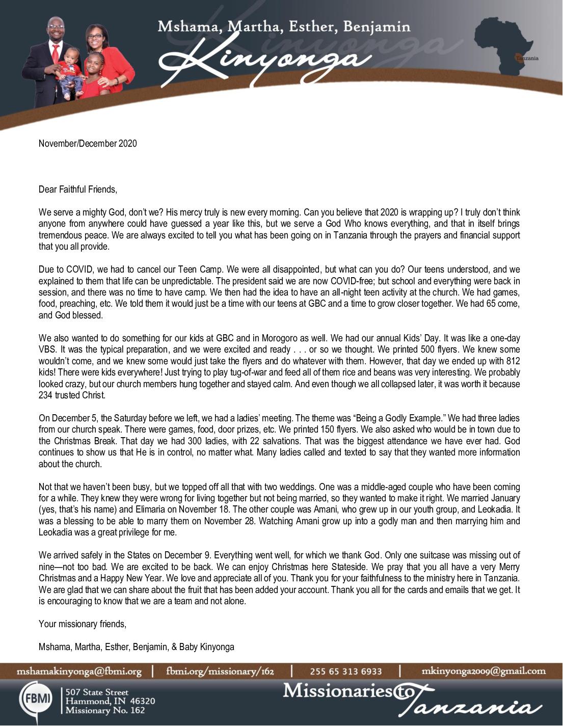 thumbnail of Mshama Kinyonga Nov-Dec 2020 Prayer Letter – 2