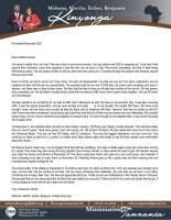 Mshama Kinyonga Prayer Letter: An Amazing Month!