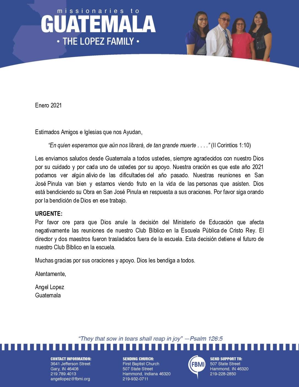thumbnail of Angel Lopez January 2021 SPANISH Prayer Letter – Revised