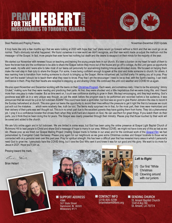 thumbnail of Brian Hebert Nov-Dec 2020 Prayer Letter – Final