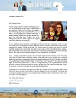 Caleb Christiansen Prayer Letter: One Year of Deputation Completed