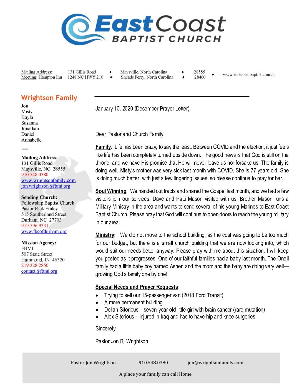 thumbnail of Jon Wrightson December 2020 Prayer Letter
