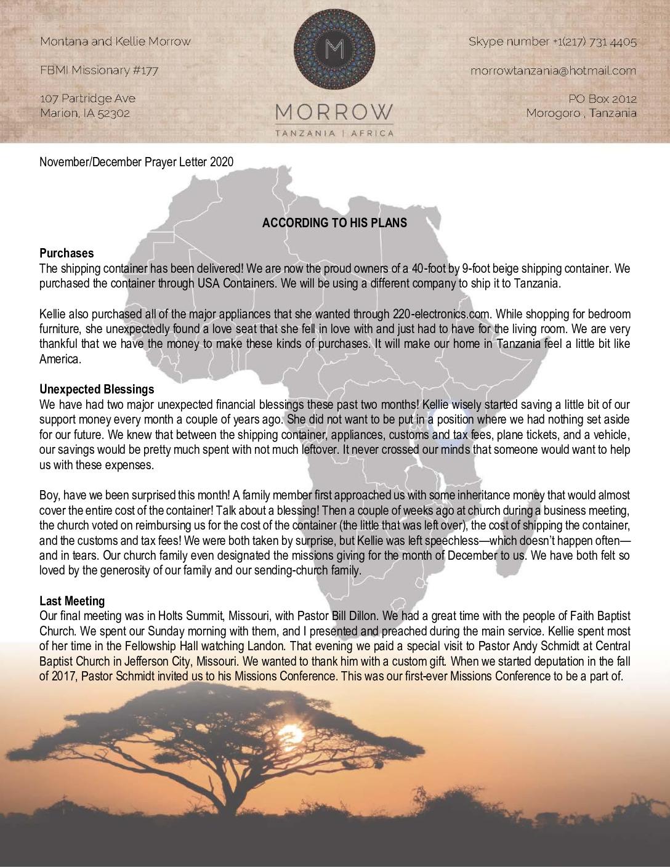 thumbnail of Montana Morrow Nov-Dec 2020 Prayer Letter – Revised