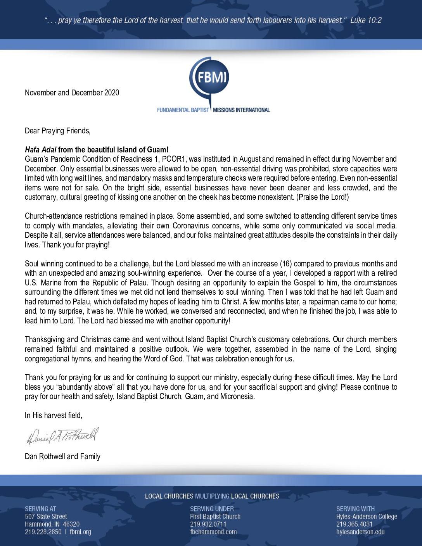 thumbnail of Dan Rothwell Nov-Dec 2020 Prayer Letter