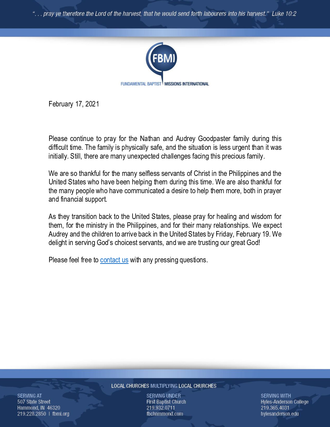thumbnail of FBMI February 2021 Update on Nathan Goodpaster
