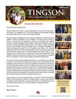 Garry Tingson Prayer Letter: We Have Reached 90%!