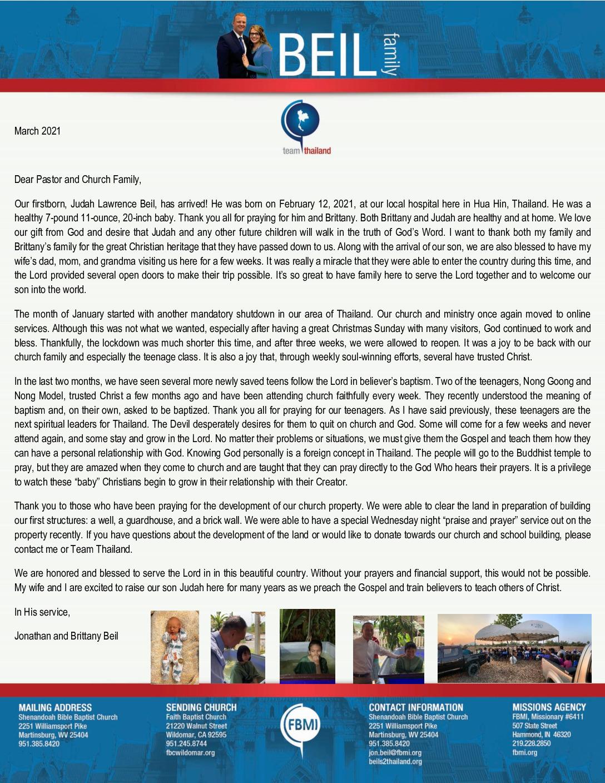 thumbnail of Jonathan Beil March 2021 Prayer Letter