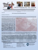 Go Oishi Prayer Letter: The 55th Anniversary of Senri-Newtown Baptist Church