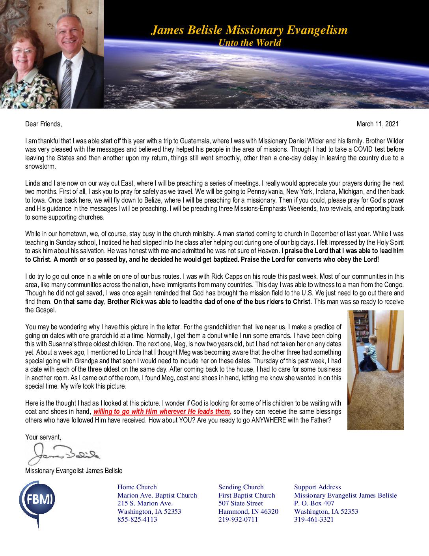 thumbnail of James Belisle March 2021 Prayer Letter