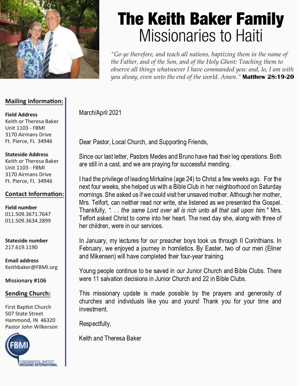 thumbnail of Keith Baker Mar-Apr 2021 Prayer Letter – Revised