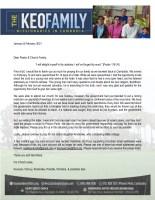 Kounaro Keo Prayer Letter: COVID Restrictions Back in Place