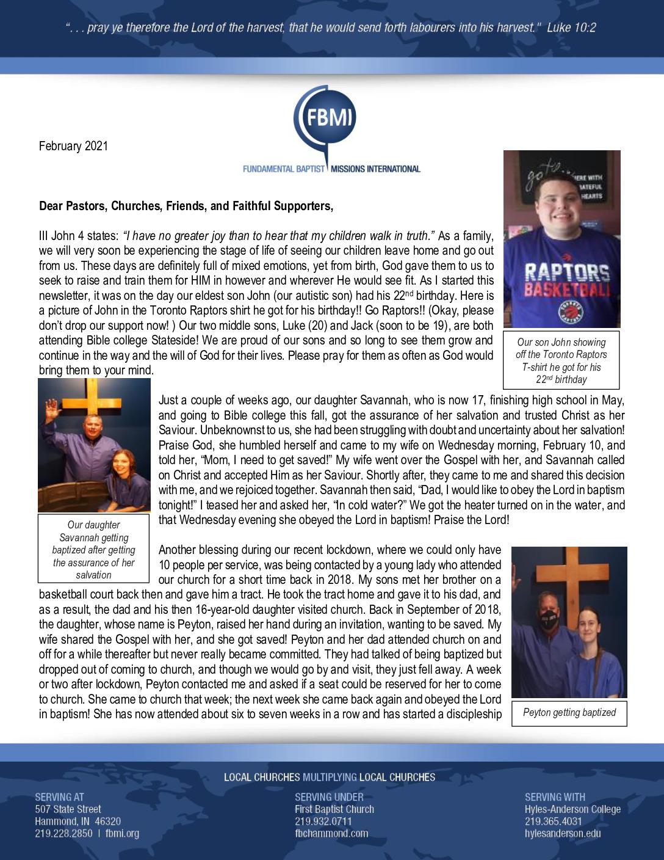 thumbnail of Phillip Powless February 2021 Prayer Letter