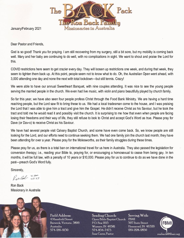 thumbnail of Ron Back Jan-Feb 2021 Prayer Letter