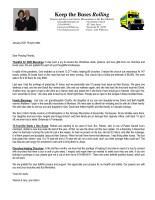 Warren Storm Prayer Letter: Thankful for 2020 Blessings