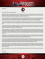 Zach Foust Prayer Letter: Much to Be Thankful For!