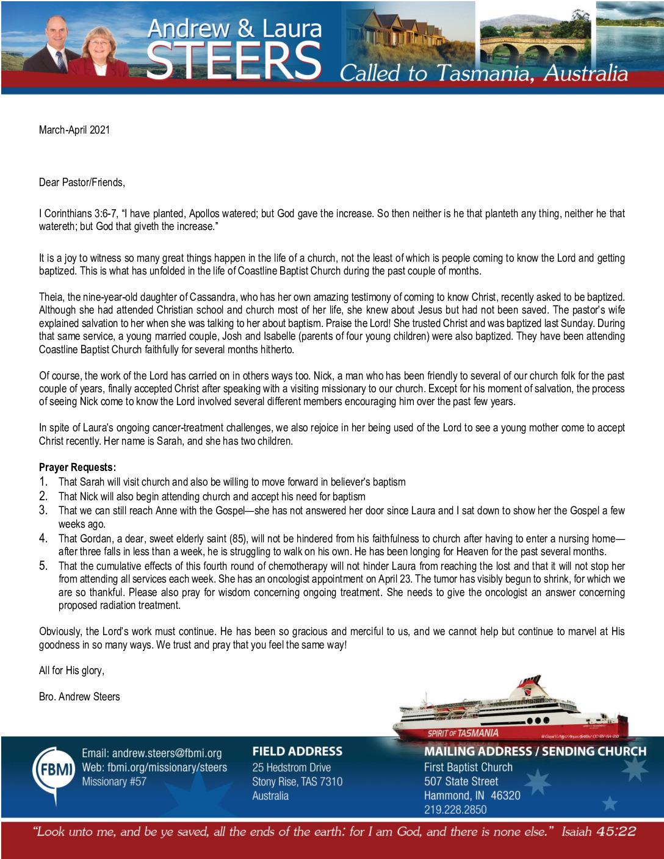 thumbnail of Andrew Steers Mar-Apr 2021 Prayer Letter