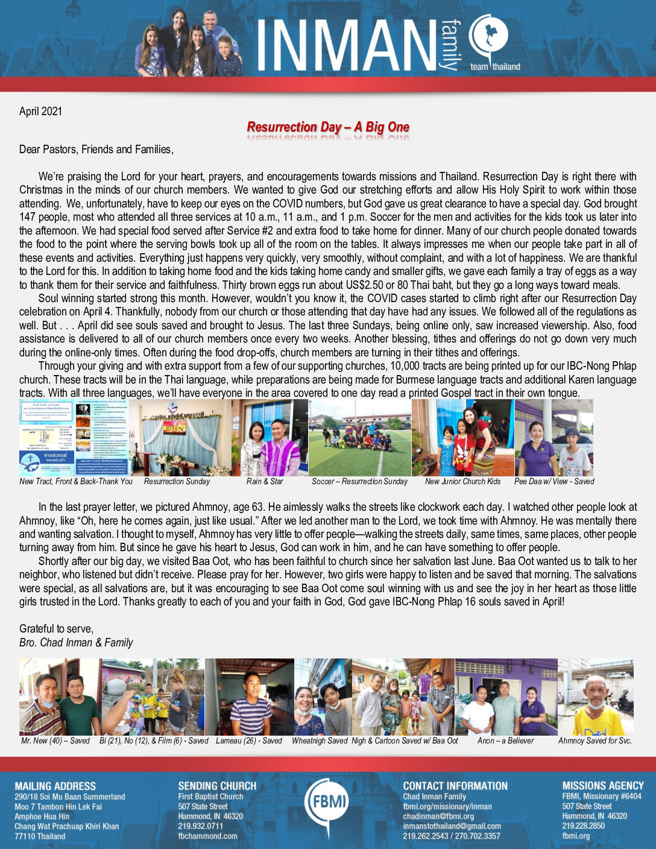 thumbnail of Chad Inman April 2021 Prayer Letter