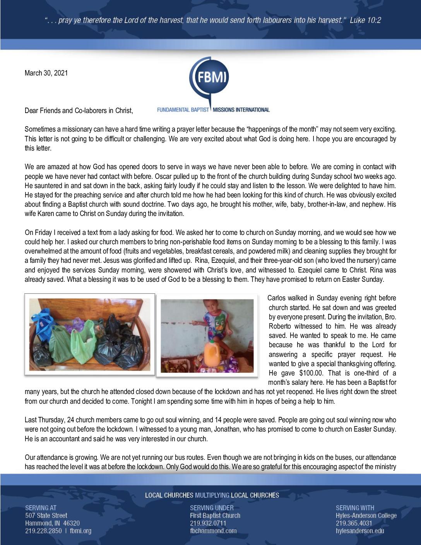 thumbnail of Henry Gonzalez March 2021 Prayer Letter