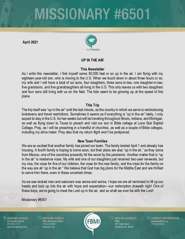 thumbnail of M6501 April 2021 Newsletter