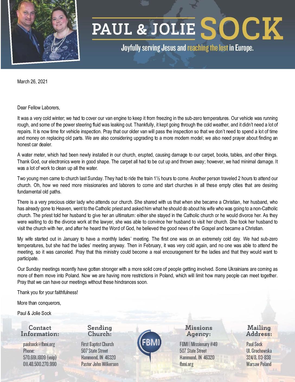 thumbnail of Paul Sock March 2021 Prayer Letter – 2