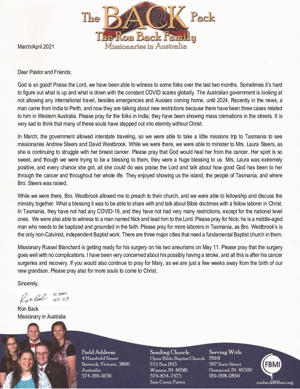 thumbnail of Ron Back Mar-Apr 2021 Prayer Letter