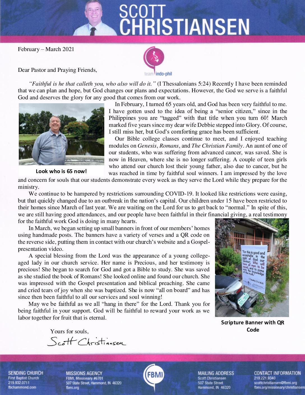 thumbnail of Scott Christiansen Feb-Mar 2021 Prayer Letter – Revised