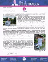 Scott Christiansen Prayer Letter:  The Lord Is Faithful