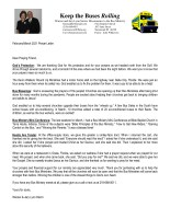 Warren Storm Prayer Letter:  Thanking God for His Protection