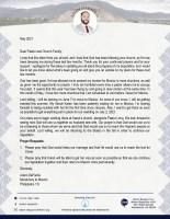 Adam DePaolis Prayer Letter: God Has Been Good