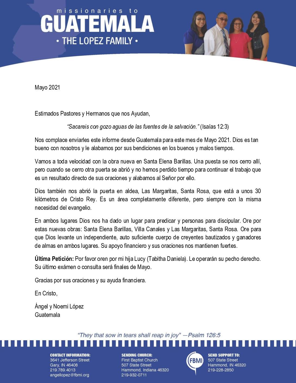 thumbnail of Angel Lopez May 2021 SPANISH Prayer Letter